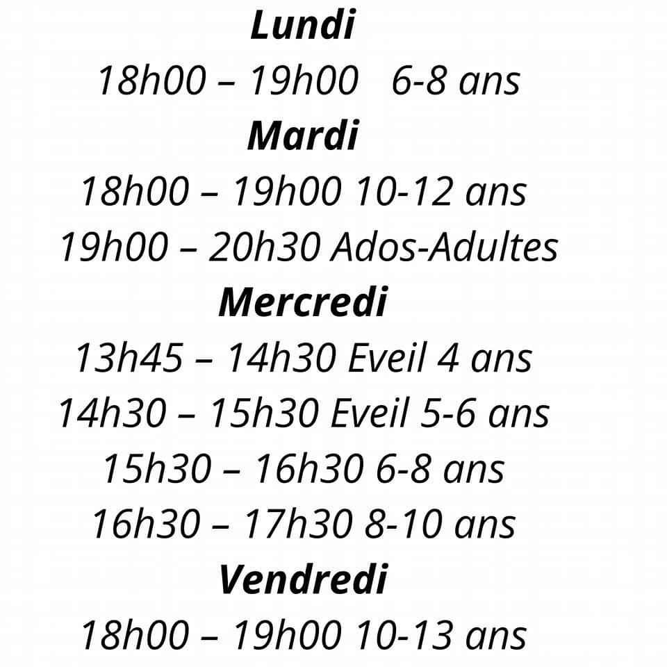 Des horaires