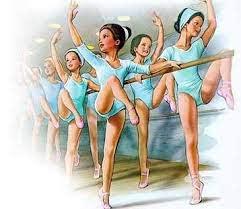 Des danseuses classiques à la barre